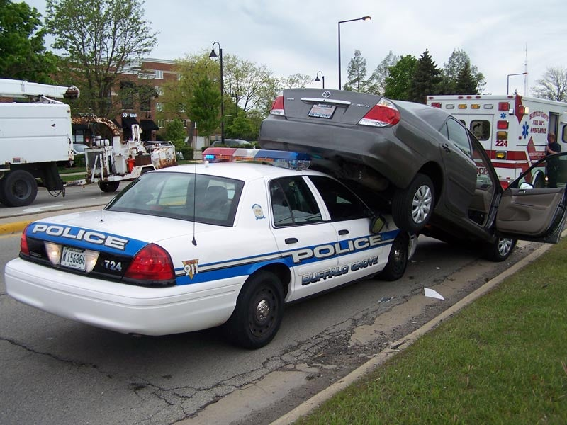 Watch A Police Car Make Love To A Camry, Now With Video!