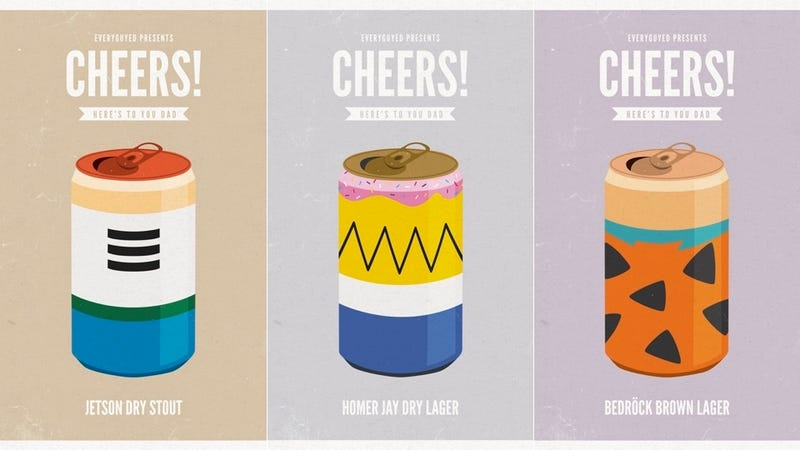 Paying Homage To Cartoon Dads With Beer Cans