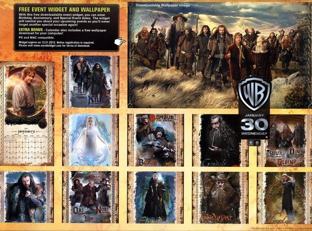 The Hobbit - Calendar