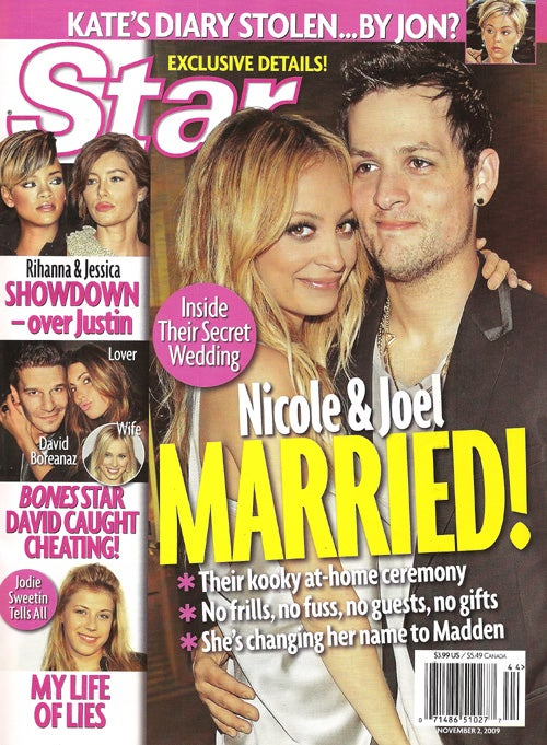 This Week In Tabloids: Nicole & Joel Married By Rev. Moon; Lindsay's Dad Tries Letter-Intervention