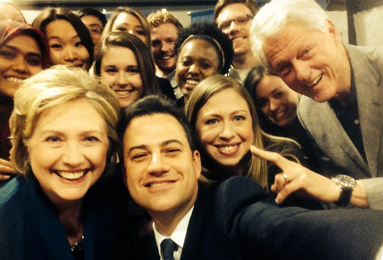 Jimmy Kimmel Grills All Three Clintons, Amends With Selfie