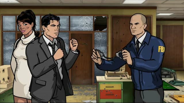 Good 'ol fashioned fisticuffs on the return of Archer