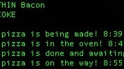 Track Your Domino's Pizza Order from a Terminal