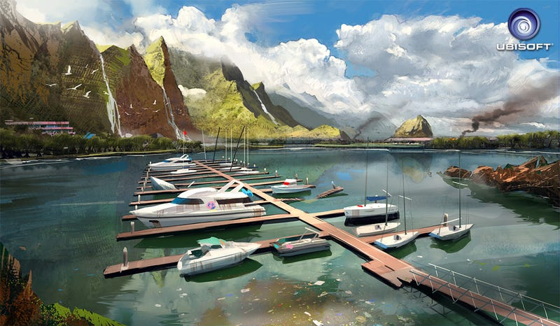 Early Far Cry 3 Concept Art Shows Scrapped Ideas, Luxury Resorts And... Fun Parks