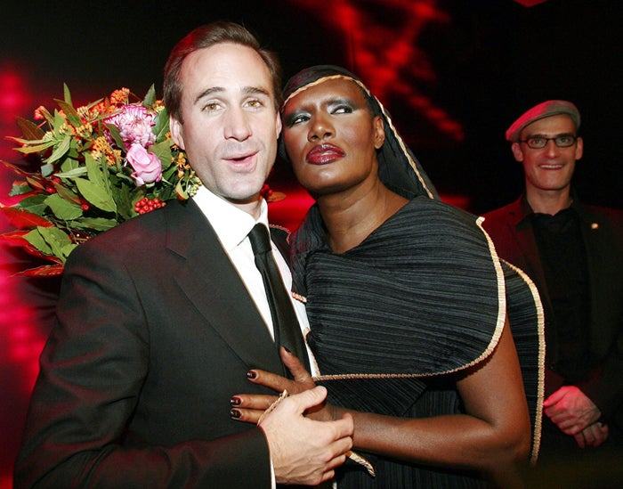 Grace Jones Gets Unsuspecting Victim In Her Clutches