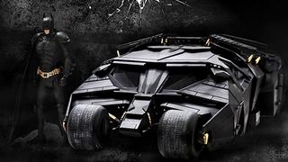 A Brilliant <i>Dark Knight</i>Tumbler Model, Complete With Batman To Drive It