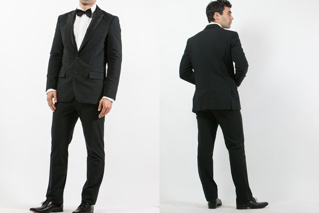 A Techy Tuxedo That Keeps You Looking Good and Dry When You Pop Champagne