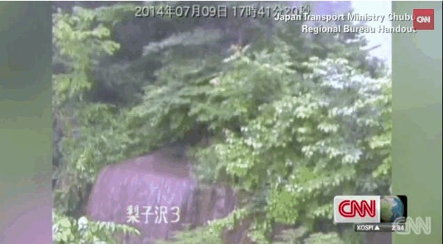 Horrifyingly Powerful Mudslide In Japan Tears Down Trees In An Instant