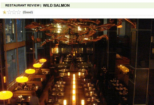 Wild Salmon: Chodorow Does Fish