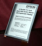 Epson Creates Flexible Electronic Paper