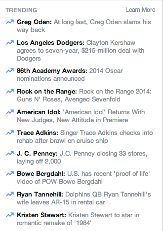 Facebook Now Shows You Personalized Trending Topics In Your News Feed