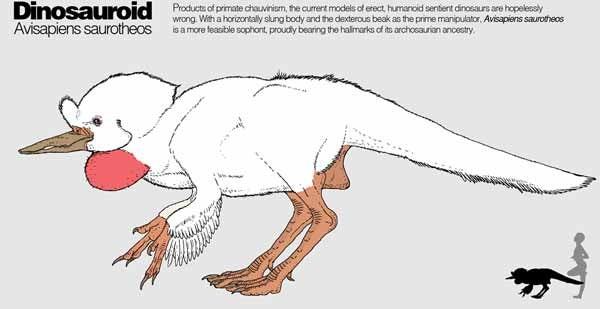 Here's what an intelligent dinosauroid would really look like