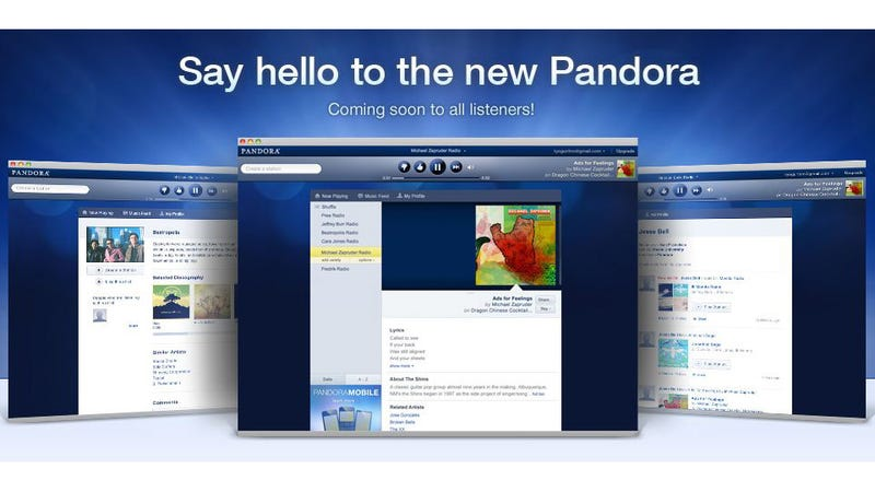 Pandora's New Look Is Live for the Masses