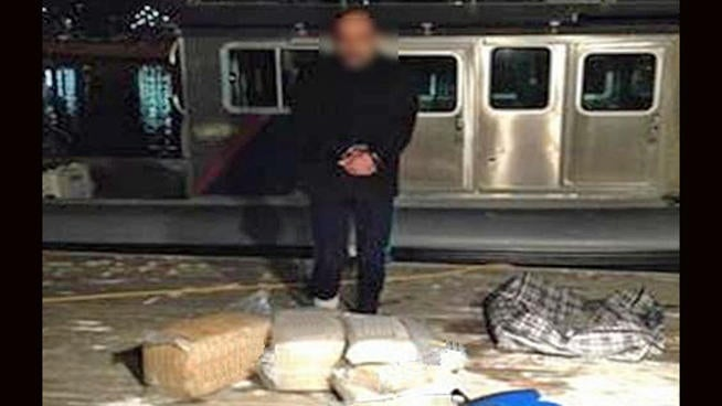 This Guy Tried to Float Across the Border On 50 Pounds of Marijuana