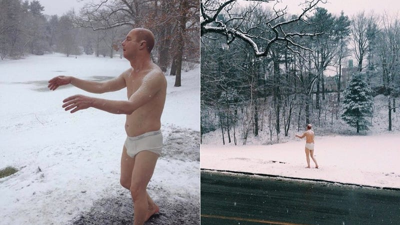 Creepy Half Naked Man Statue Causes Fracas at All-Women's College
