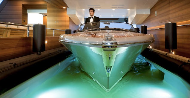 A Super-Yacht With a Garage For Smaller Boats Is Luxuriously Obscene