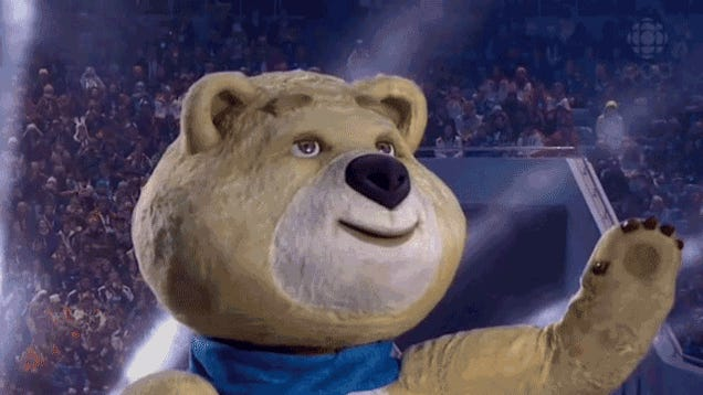 Sochi Opening Ceremony Features Scary, Blinking Robot Bear