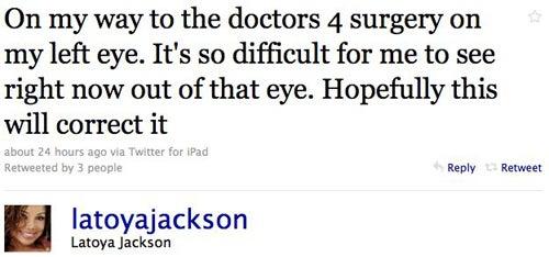 La Toya Jackson Joins Twitter