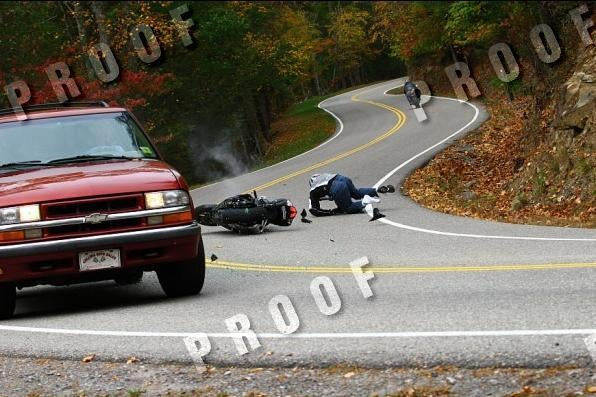 Stop-Motion Motorcycle Collision On Tail Of The Dragon