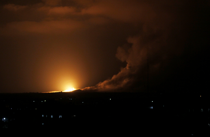 Airstrikes by Israeli Forces Reported in Gaza