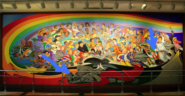 The denver airport will be a nazi paradise after our for Mural in denver airport