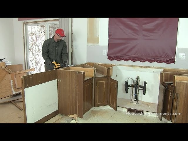 remove kitchen cabinets yourself to save money on your remodel With how to remodel kitchen cabinets yourself