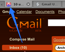 Display Your Unread Message Count in the Gmail Favicon