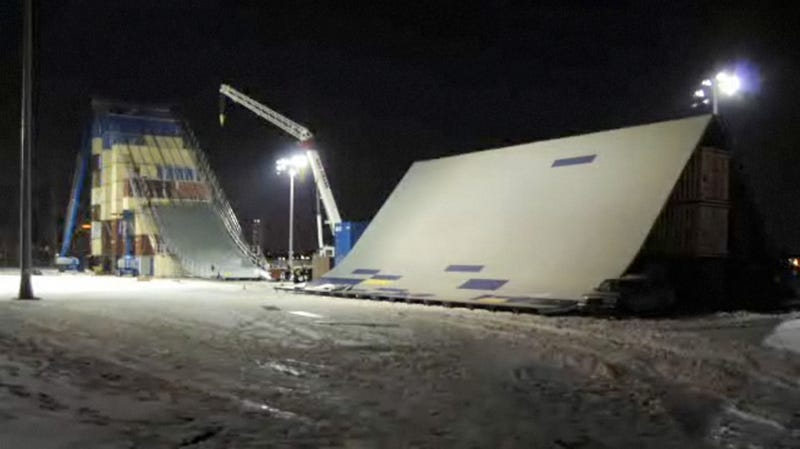 Video: How Do You Build a Massive 90-Foot Snowboarding Ramp in New York City?