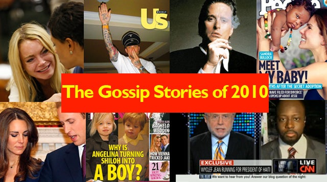 The Year's 10 Biggest Celebrity Gossip Stories