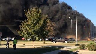 Plane Crashes Into Flight Safety Building At Wichita, Kansas Airport