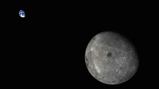 The Earth And The Moon, In A Single Frame
