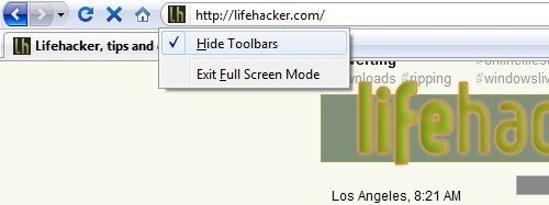 Keep Firefox Toolbars Visible in Full Screen Mode