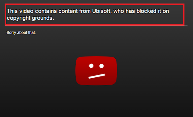 No, Ubisoft Didn't Claim Copyright On Their Own YouTube Channel