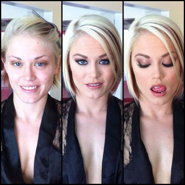 How About That: Porn Stars Look Different Before and After Their Makeup Makeovers