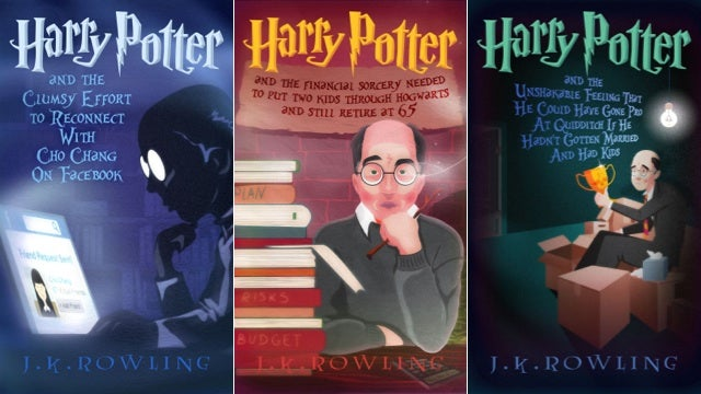 Imaginary Covers For The Books About Harry Potter's Middle Aged Life