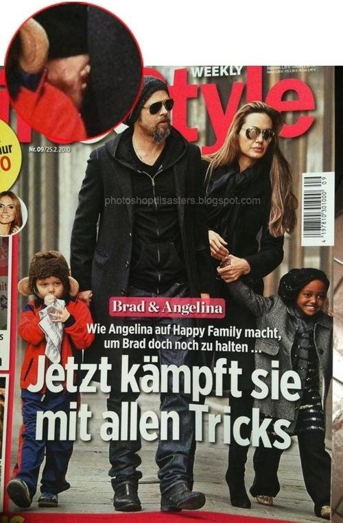 German Magazine Makes Brad Pitt Clutch Disembodied Hand