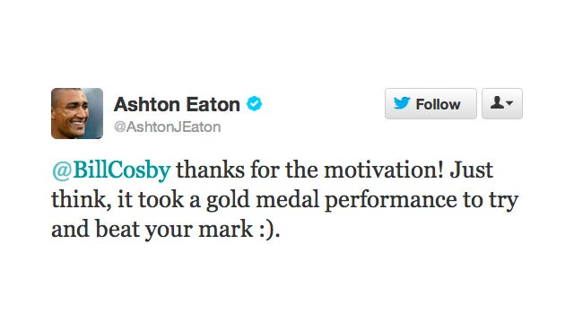 Bill Cosby Is Totes Jealous of Olympic Runner Ashton Eaton