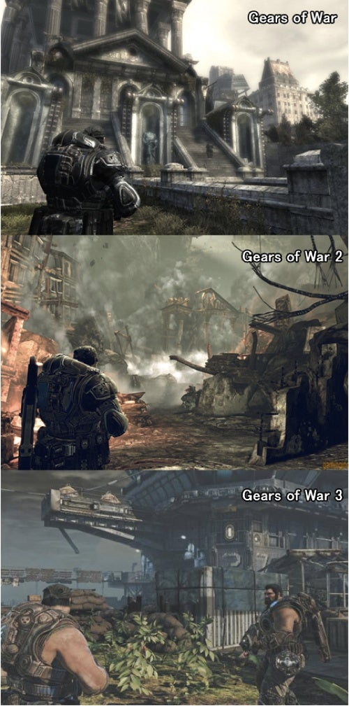 Let's Compare Gears of War 1, 2 and 3