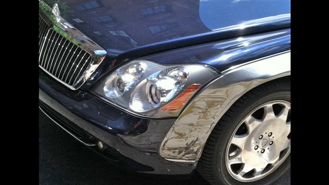 What a $24,000 fender bender in a Maybach looks like