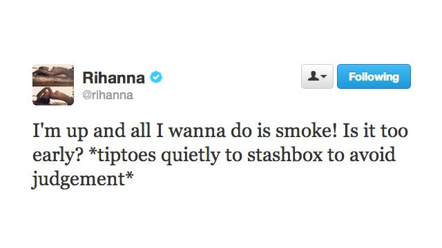 Rihanna Doesn't Want You to Know About Her Weed Habit, Tweets About It to the World