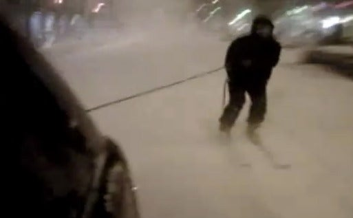 Man Skis 40mph Down Park Avenue