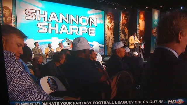 Shannon Sharpe's HOF Induction Speech Was Not Exciting Enough To Keep John Elway From Texting
