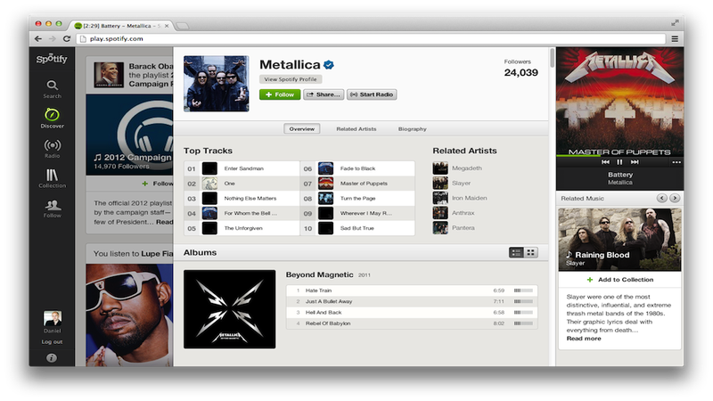 Spotify's New Interface