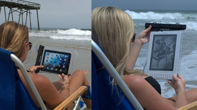 A Waterproof Case To Use Your iPad or Kindle In the Bath