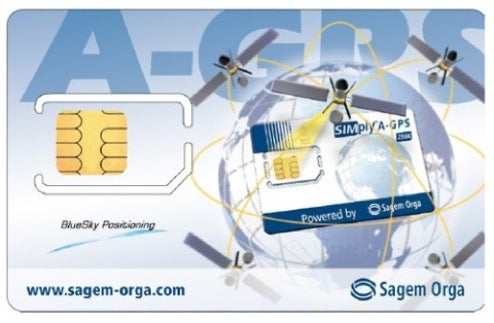 Sagem Orga Crams AGPS System Aboard SIM Card For Non-GPS Phones