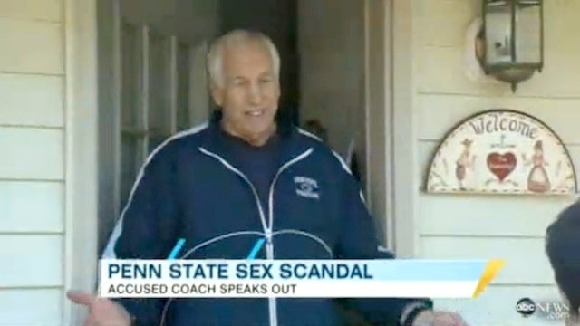 Jerry Sandusky, Questioned At His Home By A Reporter, Still Wearing A Penn State Jacket
