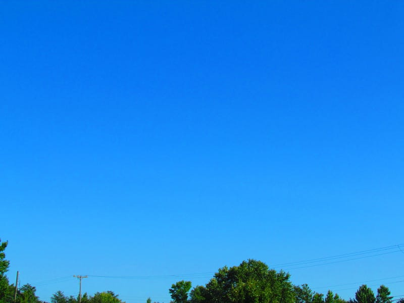Look How Blue the Sky Is Today