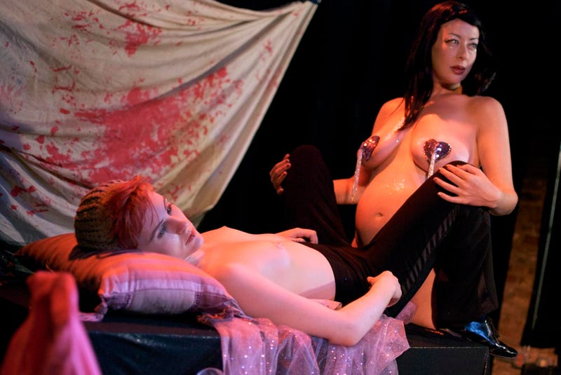 Lesbian Twilight Burlesque, starring Madame Rosebud and Little Brooklyn