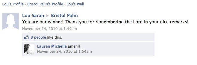 Is This Sarah Palin's Secret Facebook Page?