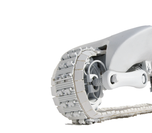 Roll Over Your Foes With the Vertrax Treaded Skateboard